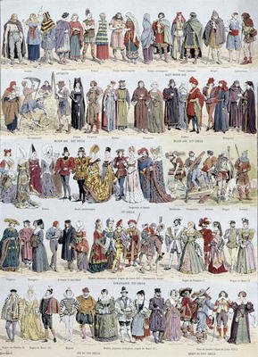 Pictorial History Of Clothing In Ancient Louis Bombled