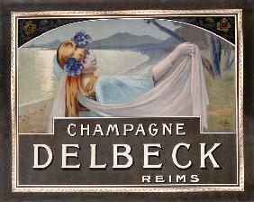 Advertisement for Champagne Delbeck, printed by Camis, Paris