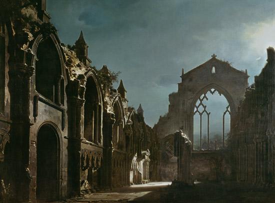 Ruinas de la capilla de Holyrood - Louis Daguerre