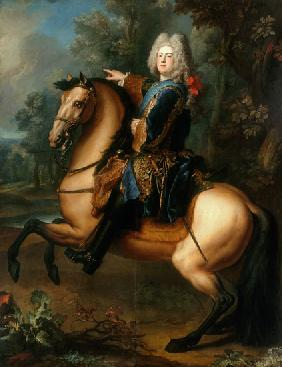 King August III. of Poland as a prince to horse