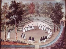 Nuns Meeting in Solitude, from 'L'Abbaye de Port-Royal'