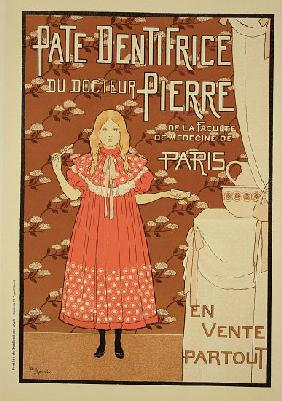 Reproduction of a poster advertising 'Doctor Peter's toothpaste'