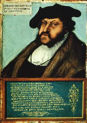 Portrait of John I (1468-1532) the Steadfast, Elector of Saxony