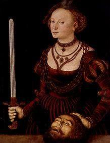 Judith with the head of the Holofernes.