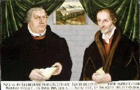 Double Portrait of Martin Luther (1483-1546) and Philip Melanchthon (1497-1560)