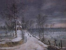 Winter Landscape (panel)
