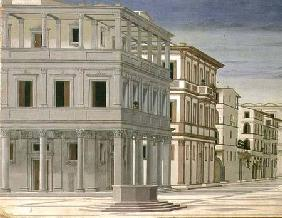 View of an Ideal City, or The City of God, probably painted by Piero della Francesca