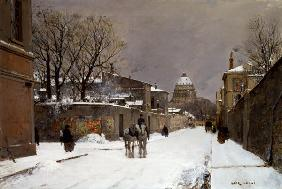 Winter Scene near Les Invalides, Paris