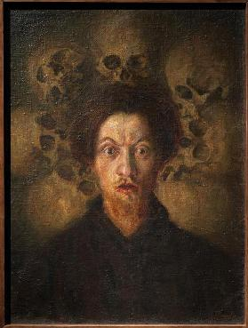 Selfportrait with skulls