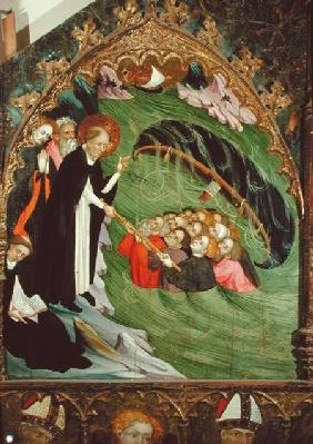 St. Dominic Rescuing Shipwrecked Fishermen from Drowning, detail from the Altarpiece of St. Dominic