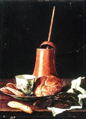 Still Life with a Drinking Chocolate Set