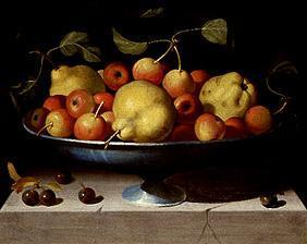 Fruit bowl with apples and pears
