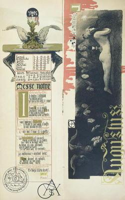 The Black Mass, the month of August for a magic calendar published in 'Art Nouveau' review, 1896 (co