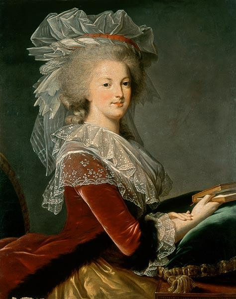 Portrait of the queen Marie Antoinette