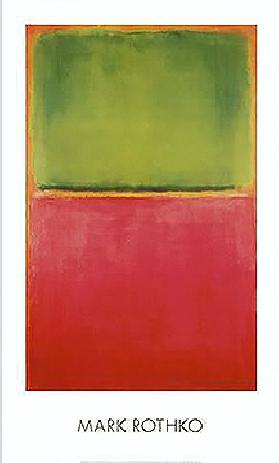 Untitled (Green, Red on Orange)