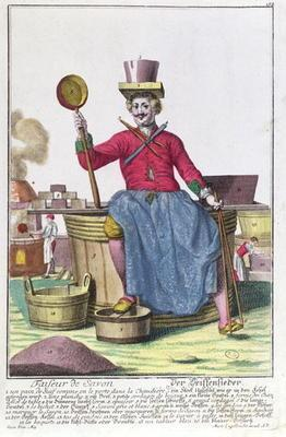 The Soap Maker, c.1735 (coloured engraving) (see also 170136)