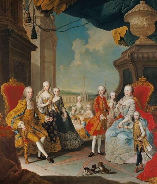 Mytens Martin - Maria Theresia in the circle of her family