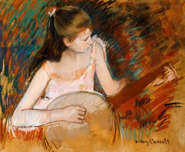 M.Cassatt, Girl with banjo / c.1894