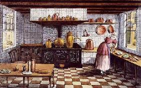 Kitchen of the Hotel St.Lucas, in the Hoogstraat, Rotterdam
