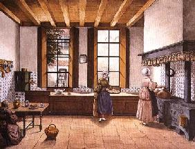 Kitchen of the Zwijnshoofd Hotel at Arnhem