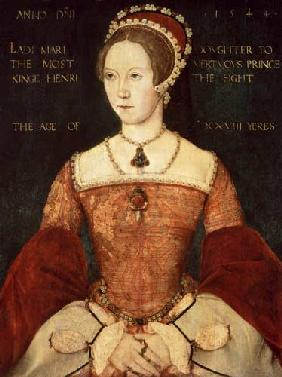 Portrait of Mary I or Mary Tudor (1516-58), daughter of Henry VIII, at the Age of 28