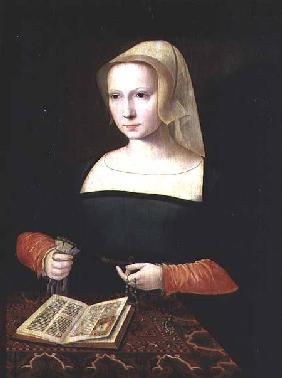 Portrait of a young woman (panel)