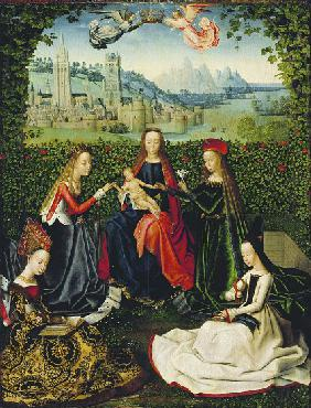 The Virgin of the Rose Garden, 1475-80
