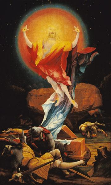 Resurrection of Christi, right inside wing of the Isenheimer altar