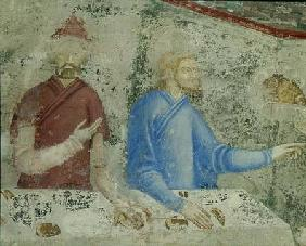 The Feast of Herod, detail from the chapel of St. Jean