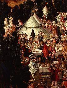 (the banquet in the camp detail from the painting the destruction Trojas)