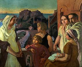 La Conversation sacré (the artist with his family in Perros-Guirec)