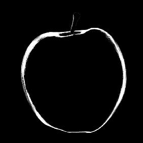 Black&white apple