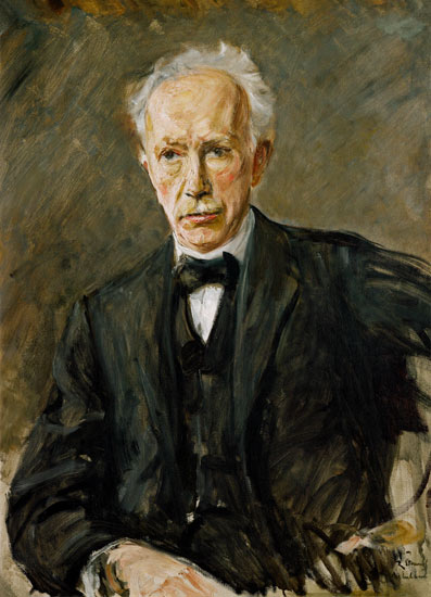 Portrait Of The Composer Richard Strauss Max Liebermann