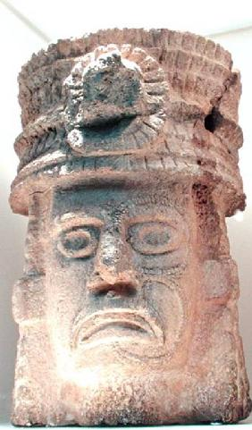 Figure wearing a feathered hat