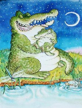 Crocodile Lullaby (mixed media)