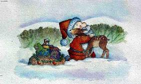 Santa''s Hug, 1998 (mixed media)