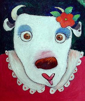 Silly Cow (oil on canvas)