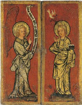 The Annunciation. Triptych of The Holy Face