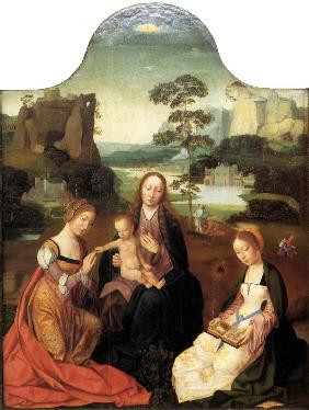 Virgin and Child with Saint Catherine and Saint Barbara
