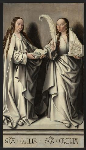 Saints Ottilia and Cecilia (Panel of the St Anne Altarpiece)