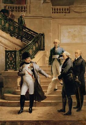 Napoleon I (1769-1821) in the Palais Royal Received by the President of the Tribunal and Refusing th