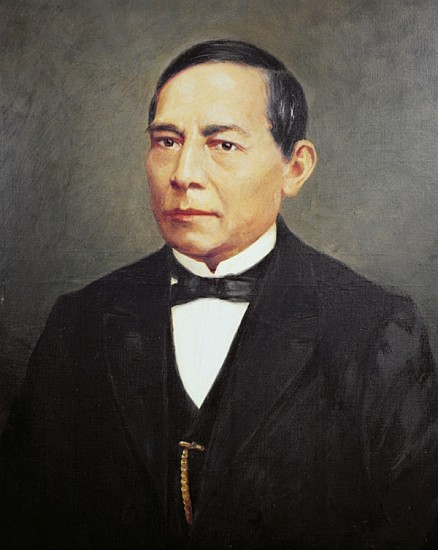 Image: Mexican School - Portrait of Benito Juarez (1806-72) - portrait_of_benito_juarez_1806