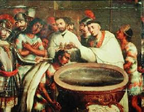 First Baptism of the Indians by the Dominicans