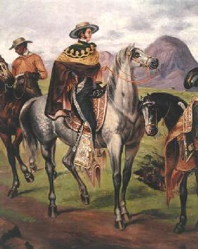 Mexican Horse Rider, Copy of a lithograph by Carlos Nobel