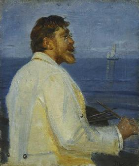 Portrait of the painter Peter Severin Kroyer