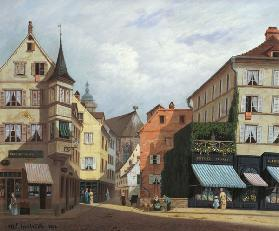 Maison Mathieu, Grand-Rue, Colmar, 1876 (oil on canvas)
