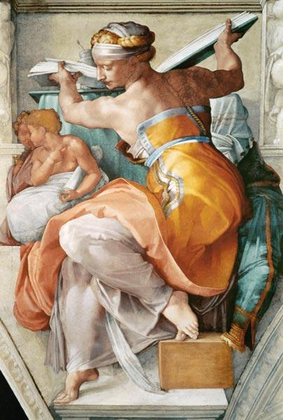 Libyan Sibyl (detail from the Sistine Chapel) 1511