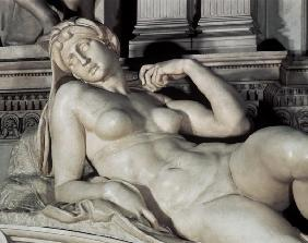 Tomb of Lorenzo de Medici, detail of Dawn