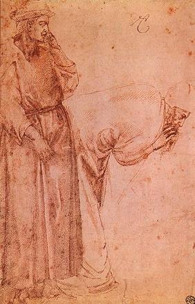 Two figures to Giotto