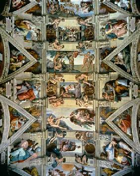 Sistine Chapel ceiling and lunettes